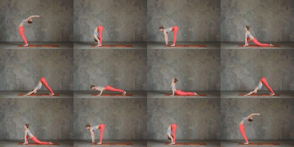 lady doing bikram yoga practice