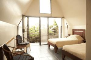 Pura Vida Spa A-Frame Yoga Retreat Room with Forest View
